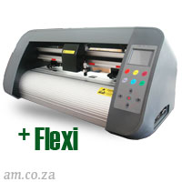 AM.CO.ZA V-Smart™ Contour Cutting Vinyl Cutter 440mm Working Area, plus FlexiSIGN Software