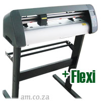 AM.CO.ZA V-Smart™ Contour Cutting Vinyl Cutter 740mm Working Area with Stand, plus FlexiSIGN Software
