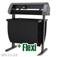 AM.CO.ZA V-Smart™ Contour Cutting Vinyl Cutter 740mm Working Area with Stand & Collection Basket, plus FlexiSIGN Software