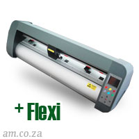 AM.CO.ZA V-Smart™ Contour Cutting Vinyl Cutter 740mm Working Area, plus FlexiSIGN Software