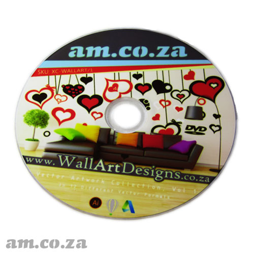 AM.CO.ZA Wall-Art-Designs Vol.1, a Vector Design and Ready to Vinyl Cut Vector Files Collection