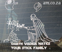 Darth Vader Hates Your Stick Family